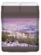 Sierra Nevada At Sunset Duvet Cover