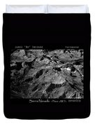 Sierra Nevada's Planer Earth Bw Duvet Cover