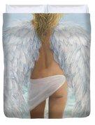 Siesta Key Beach Angel Duvet Cover