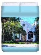 Siesta Key Beach Cottage Duvet Cover