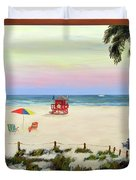 Siesta Key Beach Morning Duvet Cover