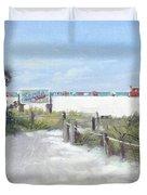 Siesta Key Public Beach Access Duvet Cover