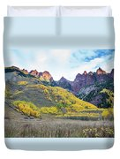 Sievers Peak And Golden Aspens Duvet Cover