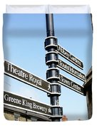Sign Posts In Bury St Edmunds Duvet Cover