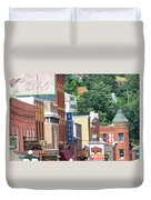 Signs And Historic Buildings Duvet Cover