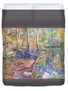 Signs Of Fall Duvet Cover