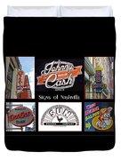 Signs Of Nashville Duvet Cover
