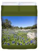 Signs Of Spring In Texas Duvet Cover