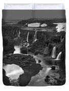 Sigoldufoss Waterfalls Iceland 1294 Duvet Cover