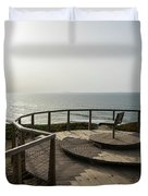 Silence And Solitude - A Special Sunset Throne High Above The Ocean Duvet Cover