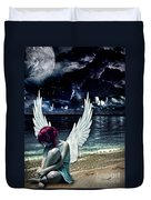 Silence Of An Angel Duvet Cover by Mo T