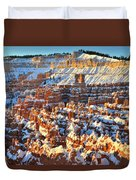 Silent City Snowy Sunrise Duvet Cover