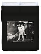 Silent Film Still: Ships Duvet Cover