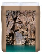 Silent Rocks Duvet Cover