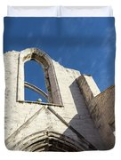 Silent Witness - Carmo Convent Roofless Ruin In Lisbon Portugal Duvet Cover