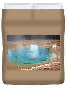 Silex Spring Fountain Paint Pot Yellowstone National Park Wy Duvet Cover