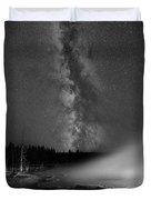 Silex Spring Milky Way Bw Duvet Cover
