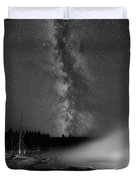 Silex Spring Milky Way Bw Duvet Cover