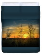 Silhouette By Sunset Duvet Cover