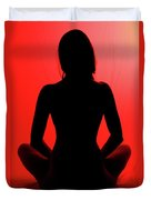 Silhouette In Red #1 Duvet Cover