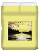 Silhouette Lagoon Duvet Cover