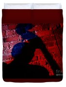 Silhouette Of A Jazz Musician 1964 Duvet Cover