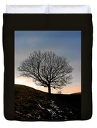 Silhouette Of A Tree On A Winter Day Duvet Cover