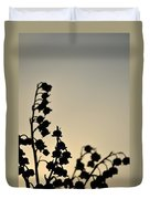 Silhouette Of Lilies Of The Valley 2 Duvet Cover