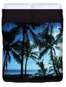 Silhouette Of Palms Duvet Cover