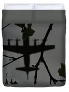 Silhouette Of War And Peace Duvet Cover