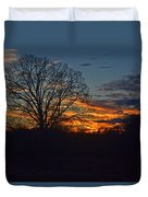 Silhouette Sunset 004 Duvet Cover
