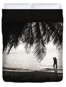 Silhouetted Couple Duvet Cover