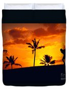 Silhouetted Golfer Duvet Cover by Dana Edmunds - Printscapes