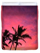 Silhouetted Palms Duvet Cover
