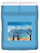 Silhouettes Against The Sky Duvet Cover