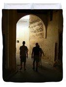 Silhouettes In Fez Duvet Cover