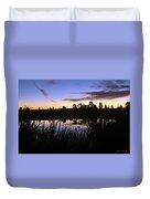 Silhouettes Of Sunrise Duvet Cover