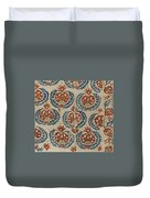 Silk Embroidered Linen Panel Duvet Cover