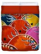 Silk Umbrella Factory Duvet Cover