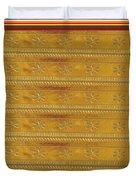 Silken Gold Border Stripes With Jewel Imprint Elegant Border Energy Healing Art By Navinjoshi Finear Duvet Cover
