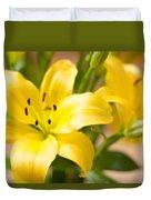 Silky Lilies Duvet Cover