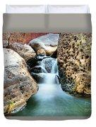 Silky Waters Of Jemez Springs Duvet Cover