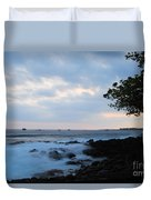 Silky Waves At Dusk Duvet Cover