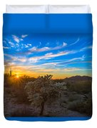 Silly Sunset Duvet Cover