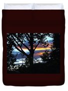Silohuettes Of Trees Duvet Cover