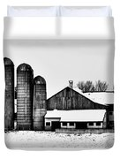 Silos And Barn Duvet Cover