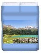 Silvaplana In Canton Graubunden, Switzerland Duvet Cover