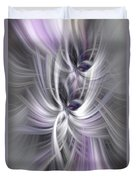 Silver Abstract Ascension. Mystery Of Colors Duvet Cover