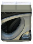 Silver Abstract Duvet Cover
