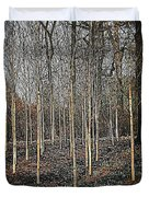 Silver Birch Winter Garden Duvet Cover